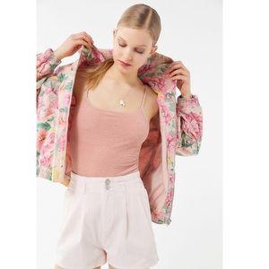 UO BDG Floral Hooded Bomber Jacket